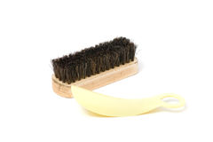 Shoe Brushes and spoon shoe. Royalty Free Stock Photo