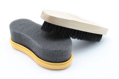 Shoe brushes Stock Photo
