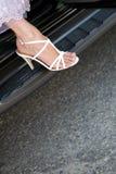 Shoe on the car Stock Photos