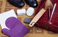 Shoe care Stock Photo