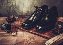 Shoe care accessories Royalty Free Stock Image
