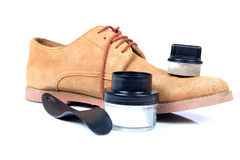 Shoe care Royalty Free Stock Photos