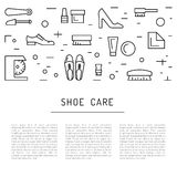 Shoe care elements Stock Photography