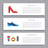 Shoe care elements Stock Image