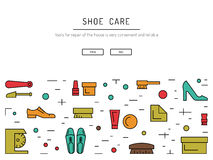 Shoe care elements Stock Images