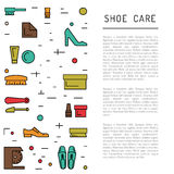 Shoe care elements Royalty Free Stock Image
