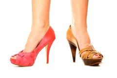 Shoe choice Royalty Free Stock Photography