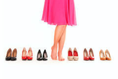 Shoe choice Royalty Free Stock Photos