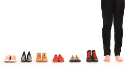 Shoe choice Stock Images