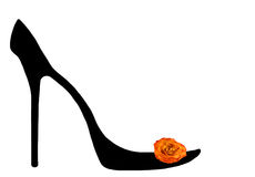 Shoe of the cinderella. Royalty Free Stock Images