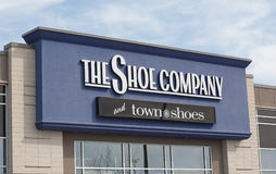 The Shoe Company And Town Shoes Retail Outlet. Royalty Free Stock Photos