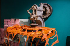 Shoe cutting machine Stock Photos