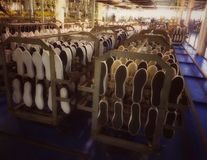Shoe factory Royalty Free Stock Photography