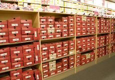 Shoe fashion store Royalty Free Stock Photos