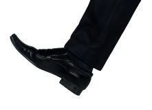 Shoe feet hit something Stock Photos