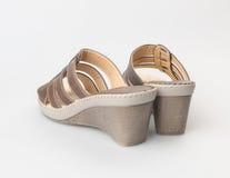shoe or female fashion sandal on background. Royalty Free Stock Photos