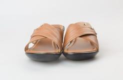 shoe or female fashion sandal on background. Stock Images