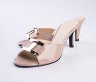 Shoe or female fashion sandal on background. Royalty Free Stock Image