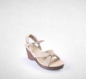 Shoe or female fashion sandal on background. Royalty Free Stock Photo