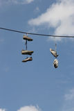 Shoe flinging Royalty Free Stock Photo