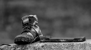 A shoe on the floor Stock Photography