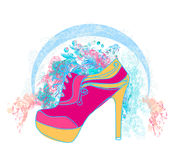 Shoe Floral Poster Royalty Free Stock Images
