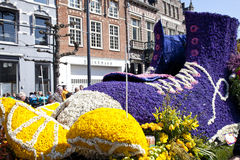 Shoe with flowers at flower parade Royalty Free Stock Photography