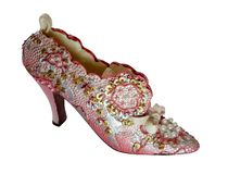 Shoe-Flowers (miniatures) Series Royalty Free Stock Photography
