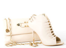 shoe and handbag  Royalty Free Stock Photography