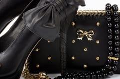 Shoe and handbag  Royalty Free Stock Images
