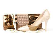 Shoe and handbag  Stock Image