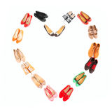 Shoe heart Royalty Free Stock Images