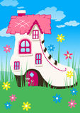 Shoe house. Royalty Free Stock Image