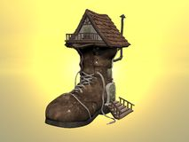 Shoe House Royalty Free Stock Photography