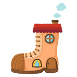Shoe house.vector Stock Image