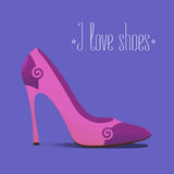 Shoe icon fashion related vector illustration, design element Royalty Free Stock Photos
