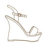 Shoe icon image Royalty Free Stock Photo