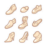 Shoe icons set Stock Images