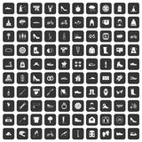 100 shoe icons set black. 100 shoe icons set in black color isolated vector illustration Vector Illustration
