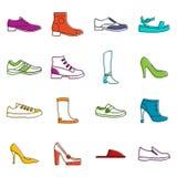 Shoe icons doodle set Royalty Free Stock Images