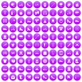 100 shoe icons set purple. 100 shoe icons set in purple circle isolated on white vector illustration vector illustration