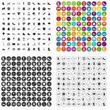 100 shoe icons set vector variant. 100 shoe icons set vector in 4 variant for any web design isolated on white Stock Photography