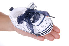 Shoe for infant Stock Images