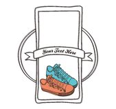 Shoe label hand draw Royalty Free Stock Photo