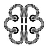 Shoe lace brain symbol Royalty Free Stock Image