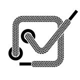 Shoe lace checkmark symbol Stock Photography