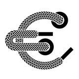 Shoe lace euro symbol Royalty Free Stock Photos