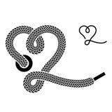 Shoe lace heart symbol Royalty Free Stock Photos