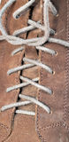 Shoe lace macro. Macro shot of shoe laces Royalty Free Stock Photo