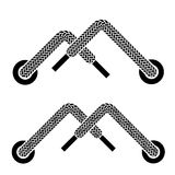 Shoe lace mountain walking symbols Stock Image